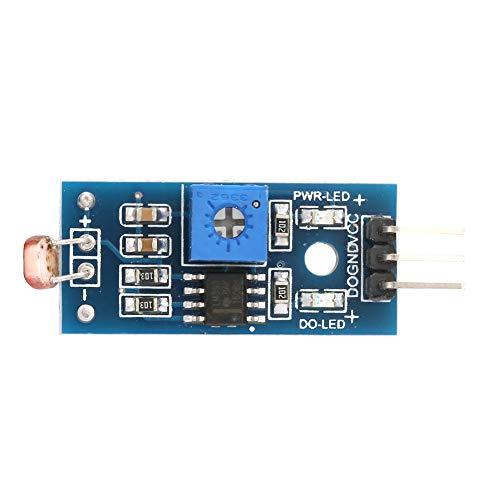 Lichtempfindliches Sensormodul, Chacerls Lichtempfindliches Sensormodul 5-teilige digitale Lichtintensitätserkennung Lichtempfindliches Sensormodul Arduino Smart Car Robot