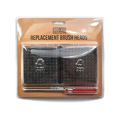 BBQ-Aid Replacement Grill Brush Heads 39 x 35 - Designed for 2020 Model - Screwdriver Included - Multi-Pack - for Grill Brush and Scraper – No Scratch Cleaning for Any Grill Char Broil Ceramic