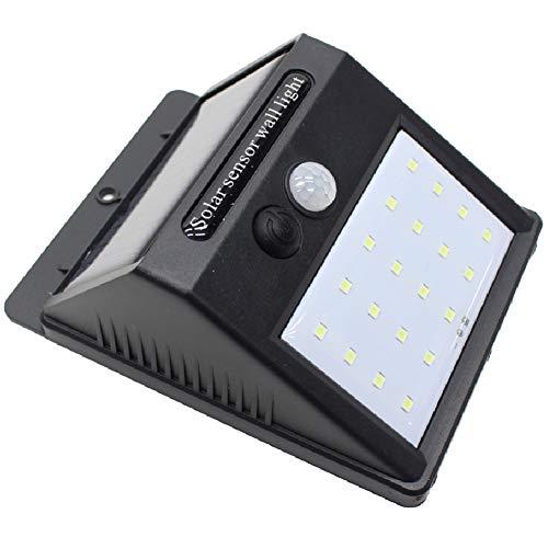 20LED センサーソーラーライト ブラック 屋外 防水仕様 ライト 人感センサー 明るい LED 防犯対策 電池不要 省エネ 玄関 屋外照明 庭 ソーラーライト LEDライト ガーデンライト エクステリア 照明