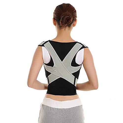 Bixialan Férulas para Espalda Postura Ajustable Ortesis de Hombro Volver Corrección de Apoyo del corsé del corsé Jorobado cifosis Soporte para la Espalda