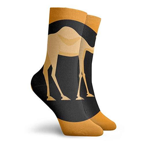 Camel Colorful Premium Athletic Crew Socks 30 cm Men Thick Cushion Casual Work Sock