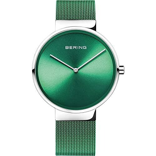 BERING Unisex Analog Quarz Classic Collection Armbanduhr mit Edelstahl Armband und Saphirglas 14539-808