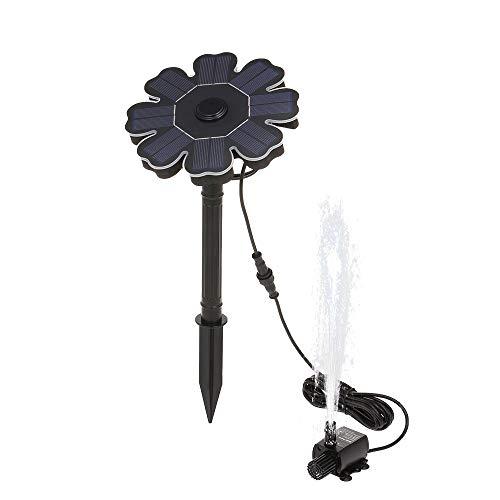 MASO Solarbetriebene Teichbrunnen Solar Teichpumpe mit Haltebügel 8 V 1,6 W Brunnenpumpe Kit für Vogelbad Teich Ziehen Garten