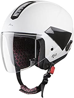 Steelbird SBH-5 VIC Female Glossy Virtuous White with Plain Visor,540 mm