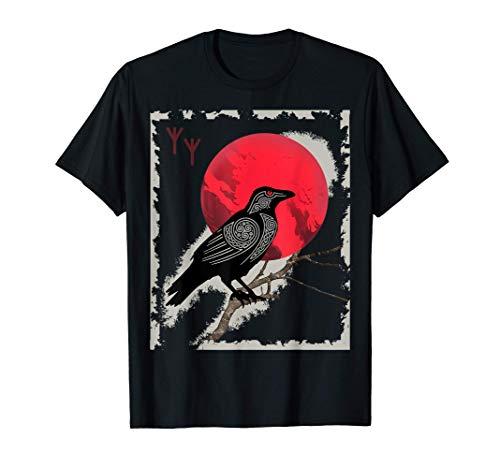 Nudo celta vikingo Odin Raven moda para mujeres y hombres Camiseta