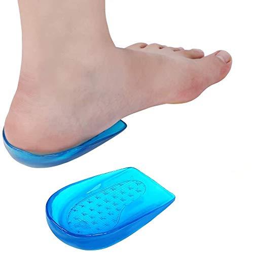 Haofy Talonera de Gel Plantilla Ortopédica de Silicona, Suave Almohadillas de Gel para Talón para Aliviar el Dolor de la Fascitis Plantar, del Tendón de Aquiles - Plantilla de Talón de Zapato, Azul