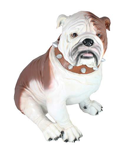 colourliving Dekofigur Hund englische Bulldogge Max Tierfigur Gartenfigur Deko Hund Dogge Figuren