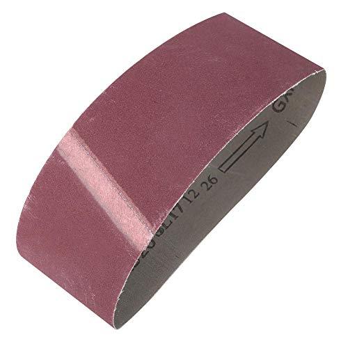 Lijadora de banda de 457 mm x 75 mm, lijadora de papel de pulido, lijadora de madera, de óxido de aluminio, 10 unidades, grano 240-1000, herrajes de metal (800)