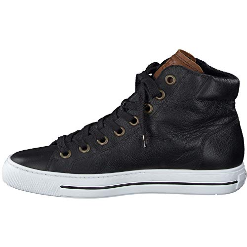 Paul Green Damen Super Soft Hightop-Sneaker, Frauen sportlicher Schnürer, strassenschuh Sneaker schnürer sportlich Ladies,Schwarz,6 UK / 39 EU