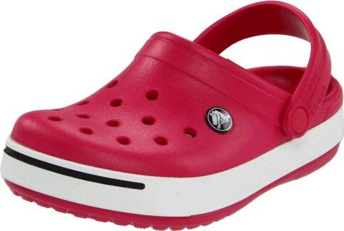 crocs Crcbnd II K RAS/Blk C4/5, Zuecos Niños Unisex, Rosa-Pink (Raspberry/Black 614), 32/33 EU