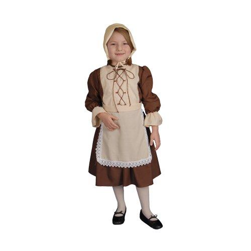 Dress Up America Kolonial Mädchen Kinderkostüm