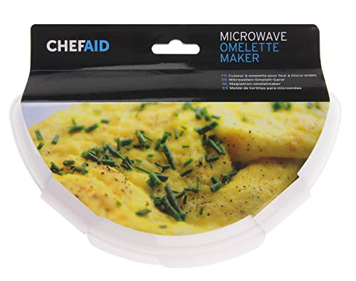 Chef Aid Passe au Micro-Ondes Egg Omelette, Blanc