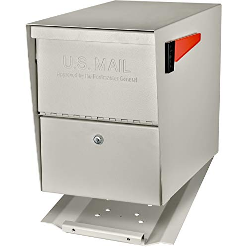 Mail Boss 7207 Package Master Curbside Locking Security Mailbox   White