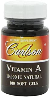 Carlson Labs Vitamin A Natural, 10000 IU, 100 Softgels