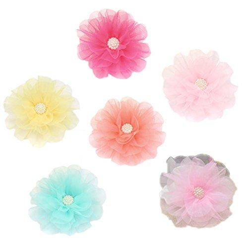 CAOLATOR Mädchen Haarspange Große Blumen Haarklammern Niedliche Haarnadel Haarklammer Haarschmuck Haarclip Prinzessin Baby Kopfschmuck 6 Stück