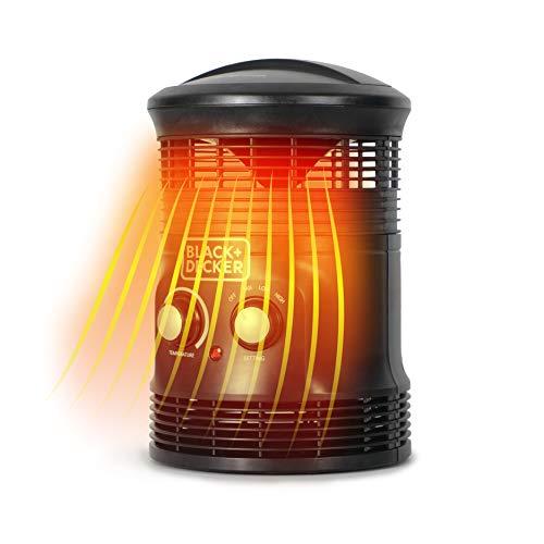 BLACK+DECKER BHDS156 Mini Space Heater, 8.64 x 8.34 x 12.59