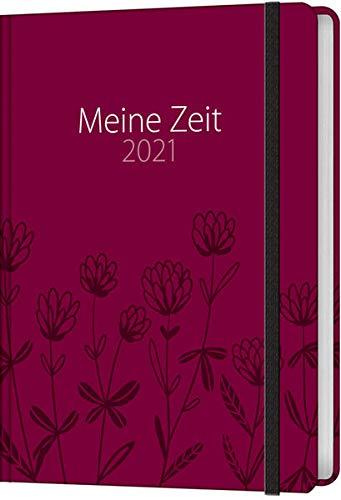 Meine Zeit 2021 - Taschenkalender (Blumen)