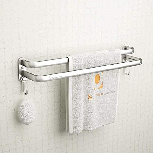 ADSE Espacio Aluminio Toallero de baño Toallero de baño Toallero de Doble Poste Barra de Toalla Estantería de Pared