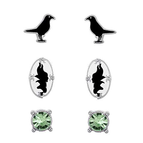 Disney Villains Maleficent and Diablo Sleeping Beauty Fashion Stud Earrings Set