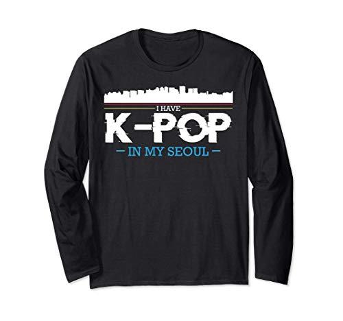 I Have K-Pop In My Seoul Dedo Corazón Gayo Corea Saranghae Manga Larga