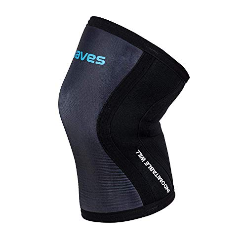 Earwaves ® Shield Knee Sleeve - Ginocchiere in neoprene 5 mm & 7 mm per CrossFit, sollevamento pesi, squat, lunges. (1 unità)