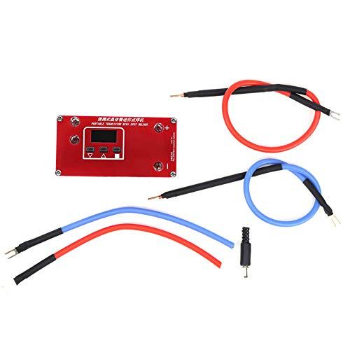 Soldador por puntos de batería, mini máquina de soldador por puntos, batería de litio portátil 18650 de transistor para condensador