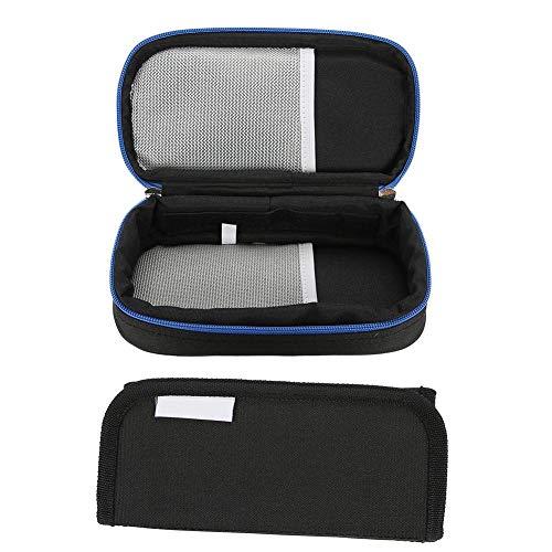 Caso de viagem para suprimentos para diabéticos, organizador portátil de insulina para diabéticos Cooler Bag Care Cool Bag Pack para viajar com medidor de glicose e outros suprimentos para diabéticos (preto)