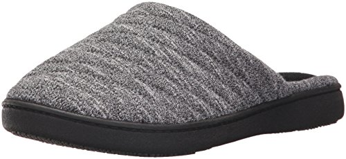 isotoner Women's Space Knit Andrea Clog Slippers, black, Medium/ 7.5-8 Standard US Width US