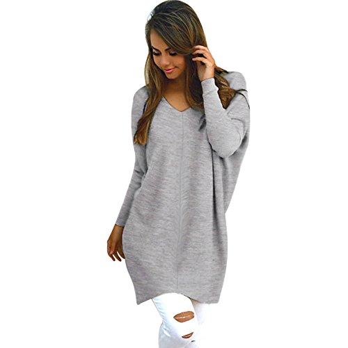 Alikeey Dames Sexy casual lange mouwen pullover pullover mantel blouse tumblr esprit sweatshirt