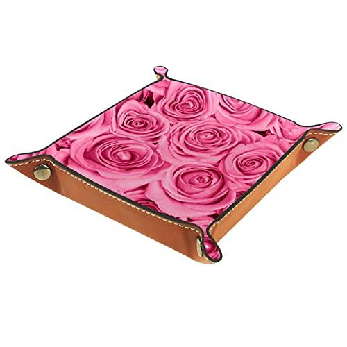 Rosa rosa organizador de escritorio personalizado para la oficina en el hogar Travel Coffee Bar