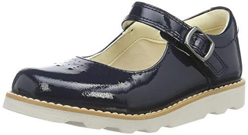 Clarks Crown Jump T, Ballerines Garçon Fille, Bleu (Navy Patent Navy Patent), 27.5 EU