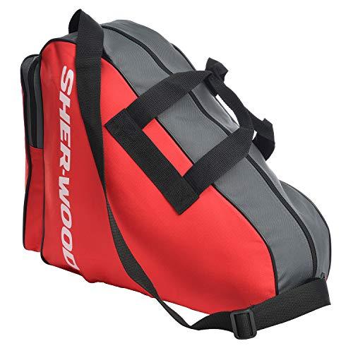 Sherwood Unisex Skate Bag Schlittschuhtasche, Rot, 36 x 16 cm EU