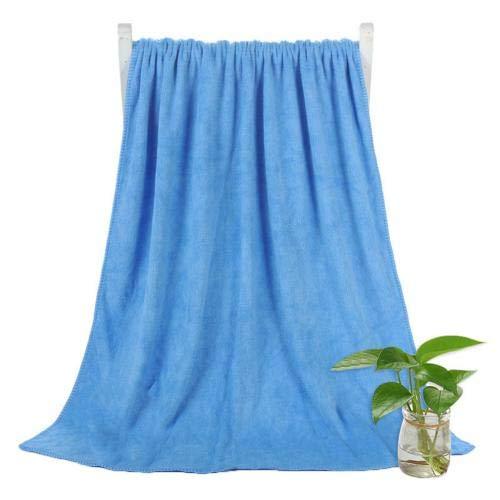 Heliansheng Toalla de Playa súper Absorbente de Toalla de baño de Secado rápido de Color sólido de 140 * 70 cm - Azul
