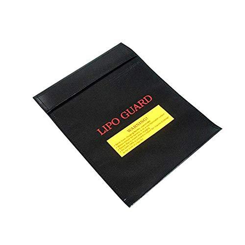 """runnerequipment Feuerfeste Dokumententaschen, 9""""x 7"""" wasserdichte und feuerfeste Tasche, feuerfeste sichere Aufbewahrungstasche mit Reißverschluss, für Lithiumbatterie RC Batteriesicherheit"""