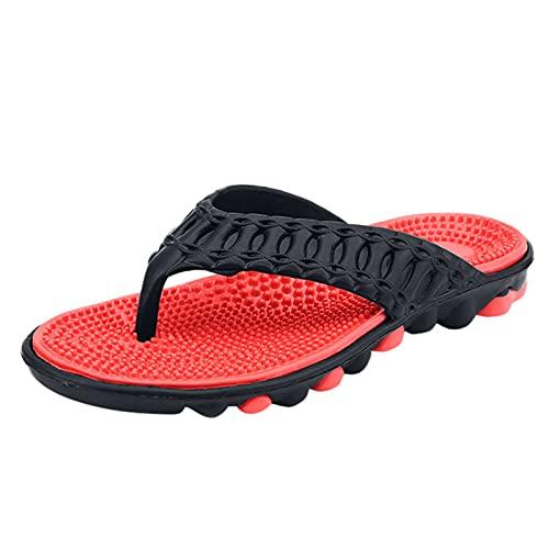 Flip Flops Herren Surfen Comfy Breite Füße Rutschsicher Badelatschen Weich Flach Fußbett Bade Sandalen rutschfest Sommer Strand Zehentrenner Dusch-& Badeschuhe