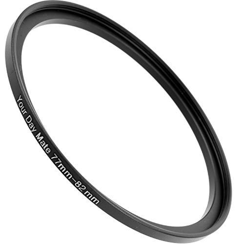 Anelli step-up Ø da 77 a 82 mm di diametro, Compatibili con obiettivi di marche come Canon, Sony, Nikon, Fujifilm, anello adattatore per filtri obiettivo della fotocamera, Anello step-up in alluminio