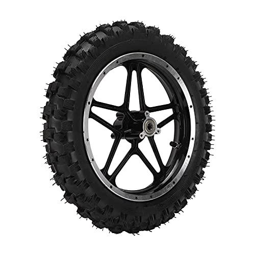 LIXFDJ Rueda de freno de disco de 2.5 pulgadas, rueda trasera de aleación de acero de repuesto para mini bolsillo de bicicleta, motocicleta, color negro