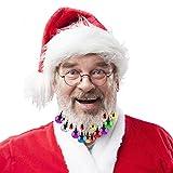 Aitsite Adornos Navideños,20 Piezas Adornos de Barba Brillante de Santa Claus,Campanas y...
