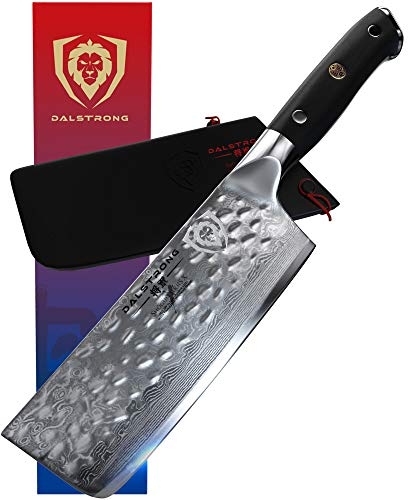 DALSTRONG Nakiri Vegetable Knife - Shogun Series X - Japanese AUS-10V Super Steel - Damascus -...