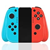 GEEMEE Wireless Controller for Nintendo Switch/Switch Lite, Switch Joypad with Motion Control & Dual Shock Compatible for Nintendo Switch Console as a Joy-Con Controller Replacement–Red/Blue