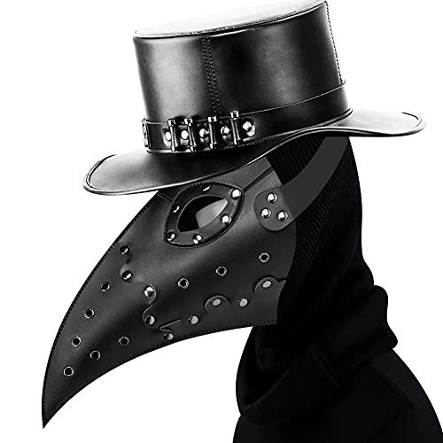 XJST Plague Doctor Mask Pelle Lungo Nose Bird Beak, Maschera di Halloween, Popolare Costume Cosplay Pop per Bambini E Adulti, Tirare Fuori Il Buco dell'Aria