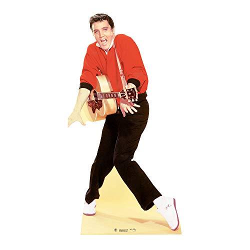 Star Cutouts Pappaufsteller von Elvis Rot Jacke und Gitarre