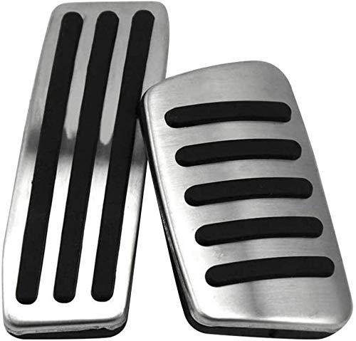 ZWWZ Cubrepedales para AutomóVil, Compatible para Ca-dillac SRX 2010-2016 Coche Manual Y AutomáTico Acero Inoxidable Antideslizante Accessories