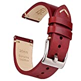 Ritche 18mm Leather Watch Band, Quick Release Leather Watch Strap Compatible with Timex Expedition Metal Field 39mm / Seiko 5 SNK805 Leather Watch Bands for Men Women