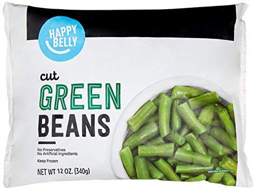 Amazon Brand - Happy Belly Frozen Green Beans, Cut, 12 Ounce