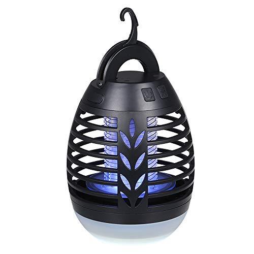 Lixada 2-in-1 Insektenvernichter Mückenvernichter Lampe Camping Lampe Elektrische Fliegenfalle LED Laterne IP66 wasserdichte tragbare Insektenlampe Zeltlampe USB Wiederaufladbar für Innen und Außen