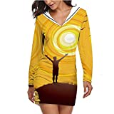 Open Arms to The Joy of Nature Sunrise Dawn,Womens Bodycon Dresses T Shirt Dress Summer S