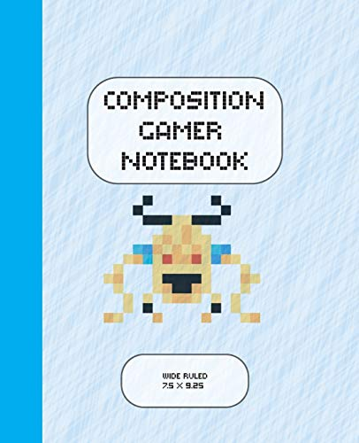 Composition Gamer Notebook Wide Ruled: The Game is Never Over. Perfect Unique Gift Idea Wide Ruled Notebook, Composition Sketch Book to write in for Mens Women Girl Boy under 10$