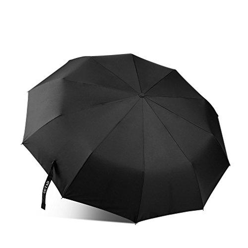 OUTAD Automatik Folding Regenschirm, Wind-Rahmen Schnell Trocknen Travel Umbrella mit Auto Öffnen und Schließen und Slip-Proof-Handle