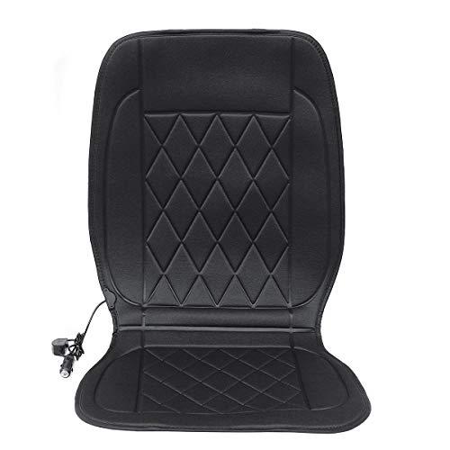 SUYING Bequeme Sitzkissen für Familie Autos Geben 12V 20W Winter-Polyester-Auto-Frontsitzheizung Kissen Sitzwärmer Haushaltsabdeckung Elektromatte, Ergonomisch und komfortabel (Color : Black)